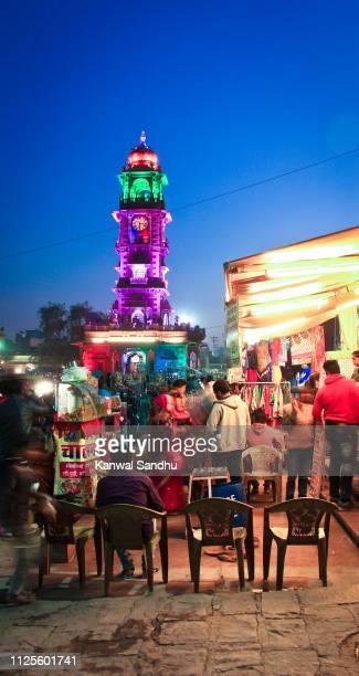jodhpur clock tower and square - 乗馬ズボン ストックフォトと画像