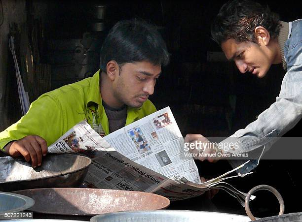 Jodhpur, India - Reading the News
