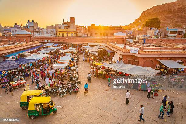 jodhpur market - indian culture stock pictures, royalty-free photos & images