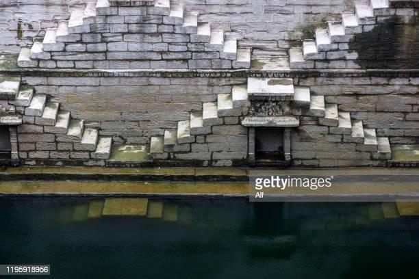 jodhpur's baori, rajasthan, india - stepwell bildbanksfoton och bilder