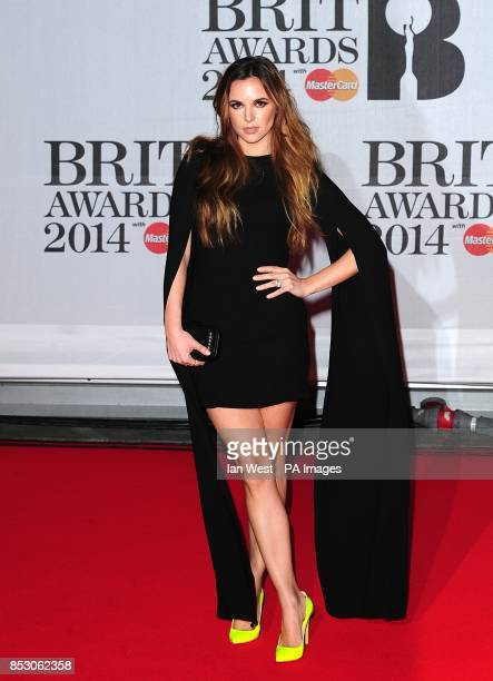 Jodi Albert arriving for the 2014 Brit Awards at the O2 Arena London