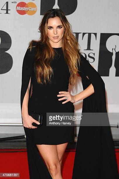 Jodi Albert attends The BRIT Awards 2014 at 02 Arena on February 19 2014 in London England