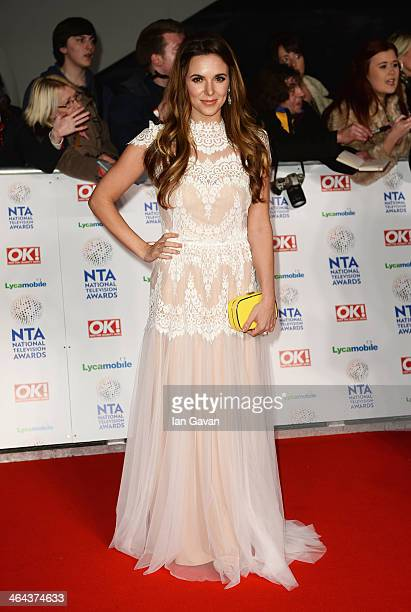 Jodi Albert attends the National Television Awards at 02 Arena on January 22 2014 in London England