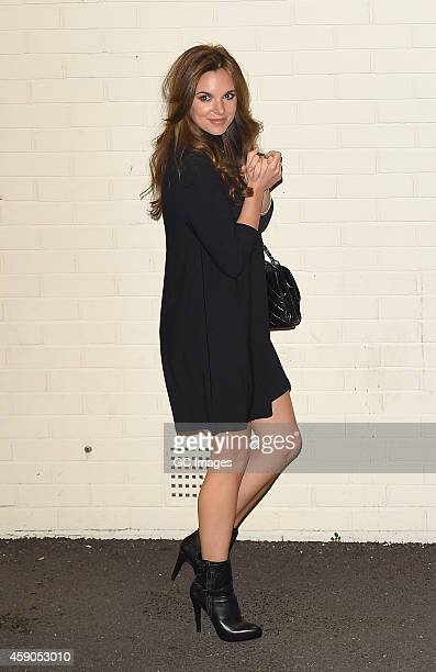 Jodi Albert leaves the X Factor sudios in Wembley on November 15 2014 in London England