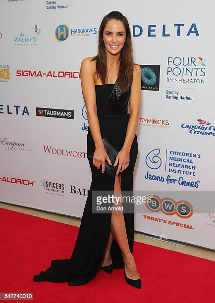 Jodi Anasta arrives ahead of the annual Jeans For Genes Excellence Ball on June 24 2016 in Sydney Australia