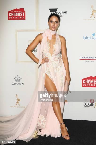 Jodi Anasta arrives at the 59th Annual Logie Awards at Crown Palladium on April 23 2017 in Melbourne Australia