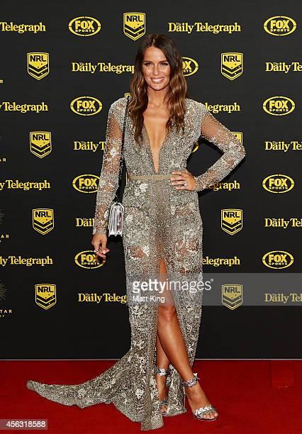 Jodi Anasta arrives at the Dally M Awards at Star City on September 29 2014 in Sydney Australia