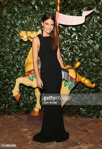 Jodi Anasta arrives at the Sydney Children's Hospital's 2016 Silver Party at Iona on March 11 2016 in Sydney Australia
