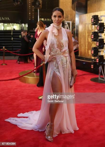 Jodi Anasta Gordon arrives at the 59th Annual Logie Awards at Crown Palladium on April 23 2017 in Melbourne Australia