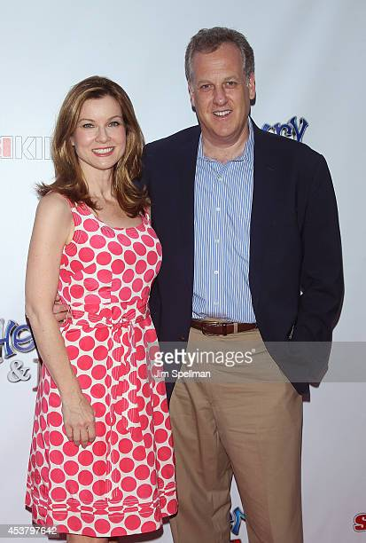 Jodi Applegate and announcer Michael Kay attend the Henry Me New York Premiere at Ziegfeld Theatre on August 18 2014 in New York City