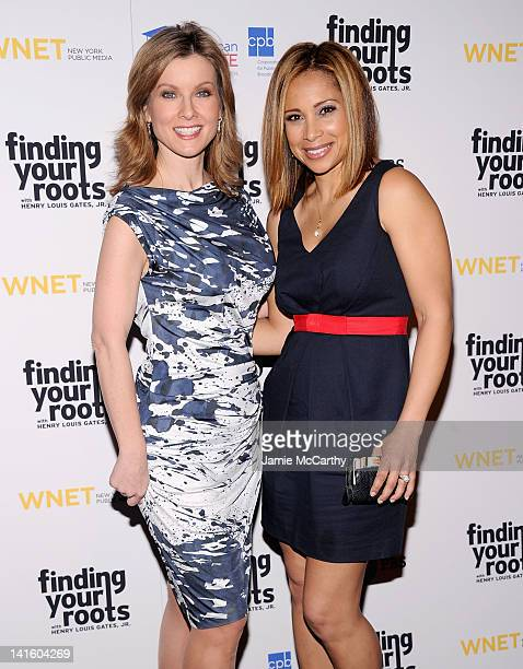 Jodi Applegate and Dari Alexander attend the Finding Your Roots New York premiere at Frederick P Rose Hall Jazz at Lincoln Center on March 19 2012 in...
