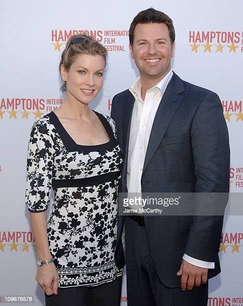 Jodi Applegate and Ron Corning attend the Hamptons Film Festival The HIFF GSA Awards at the United Artists Theaters in East Hampton New York october...