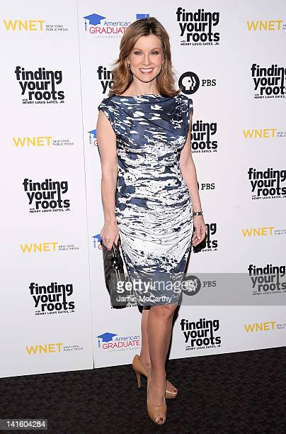 Jodi Applegate attends the Finding Your Roots New York premiere at Frederick P Rose Hall Jazz at Lincoln Center on March 19 2012 in New York City