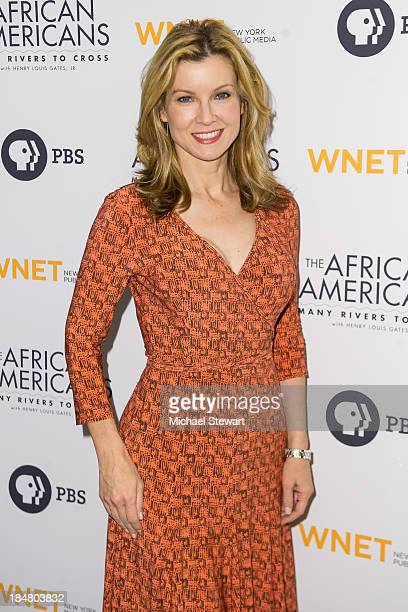 Jodi Applegate attends the The African Americans Many Rivers to Cross screening at The Paris Theatre on October 16 2013 in New York City