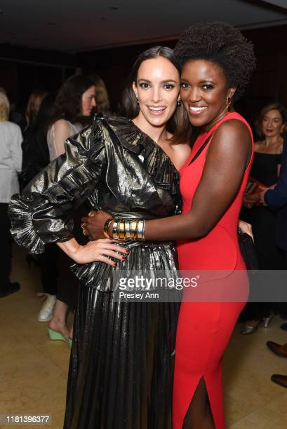 Jodi Balfour and Krys Marshall attend World Premiere of Apple TV's For All Mankind after party on October 15 2019 in Westwood California