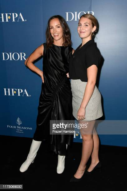 Jodi Balfour and Sophie Nélisse attends the HFPA/THR TIFF PARTY during the 2019 Toronto International Film Festival at Four Seasons Hotel on...
