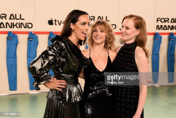 Jodi Balfour Sarah Jones and Wrenn Schmidt attend World Premiere of Apple TV's For All Mankind Red Carpet at Regency Village Theatre on October 15...