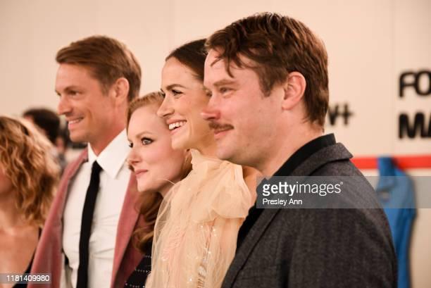 Jodi Balfour Sarah Jones Joel Kinnaman Wrenn Schmidt Shantel VanSanten and Michael Dorman attend World Premiere of Apple TV's For All Mankind Red...