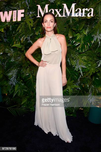 Jodi Balfour wearing Max Mara attends the Max Mara Celebration for Alexandra Shipp 2018 Women In Film Max Mara Face Of The Future Award Recipient at...