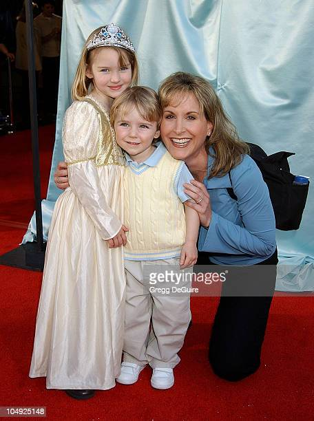 Jodi Benson son McKinley friend Anna during Cinderella II Dreams Come True World Premiere at El Capitan Theatre in Hollywood California United States