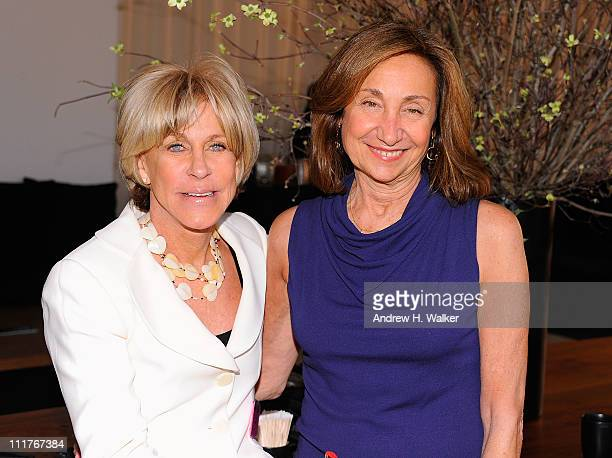 Jodi Evans and Carole Isenberg attend the Events Of The Heart The Million Women's Heart Summit at Donna Karan's Urban Zen Center at the Stephen Weiss...