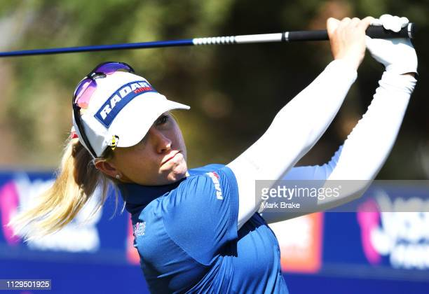 Jodi Ewart Shadoff of Great Britain during day one of the 2019 ISPS Handa Women's Australian Open at The Grange GC on February 14 2019 in Adelaide...