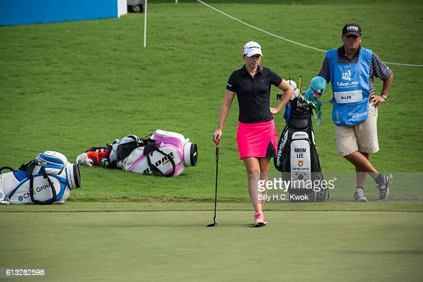 Jodi Ewart Shadoff of North Yorkshire England plays a shot in the Fubon Taiwan LPGA Championship on October 8 2016 in Taipei Taiwan