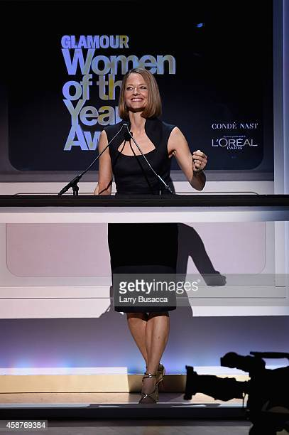 Jodi Foster speaks onstage at the Glamour 2014 Women Of The Year Awards at Carnegie Hall on November 10 2014 in New York City