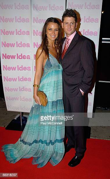 Jodi Gordon and Paul O'Brien attend the Dancing With New Idea Party at Cargo Bar September 8 2005 in Sydney Australia