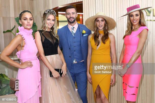 Jodi Gordon Jennifer Hawkins Kris Smith Rachel Finch and Rebecca Judd attend the MYER Marquee on Melbourne Cup Day at Flemington Racecourse on...