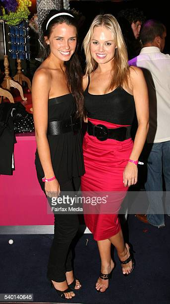 Jodi Gordon left and Amy Erbacher at the opening of the Priscilla Bar at the Lyric Theatre Star City Sydney 8 October 2006 SHD Picture by LEE BESFORD