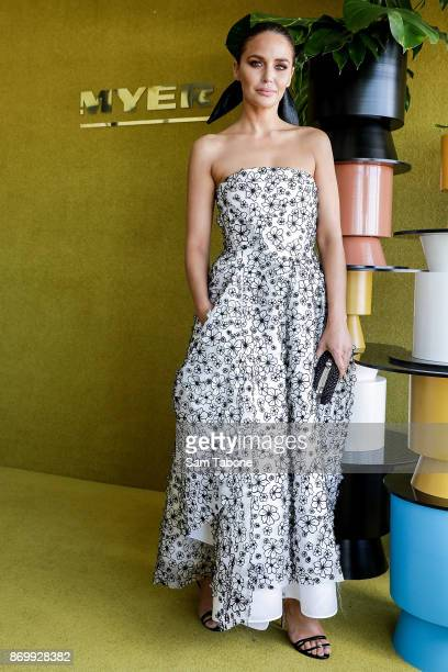 Jodi Gordon poses at the Myer Marquee on Derby Day at Flemington Racecourse on November 4 2017 in Melbourne Australia