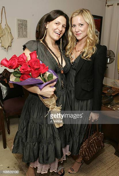 Jodi Guber and Jessica Capshaw during Kaviar Kind Party for Jodi Guber and Matt Taylor September 28 2005 at Kaviar Kind in West Hollywood Californina...