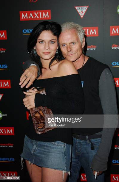 Jodi Lyn O'Keefe and Michael Des Barres during Maxim Magazine's Annual Hot 100 Party at 1400 Ivar in Hollywood CA United States