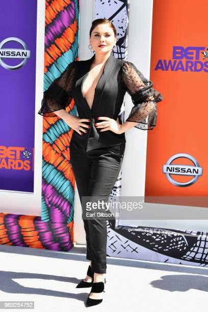 Jodi Lyn O'Keefe attends the 2018 BET Awards at Microsoft Theater on June 24 2018 in Los Angeles California