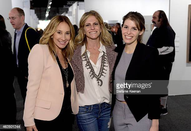 Jodi Price Allison Berg and Jessica Kreps attend the Art Los Angeles Contemporary 2015 Opening Night at Barker Hangar on January 29 2015 in Santa...