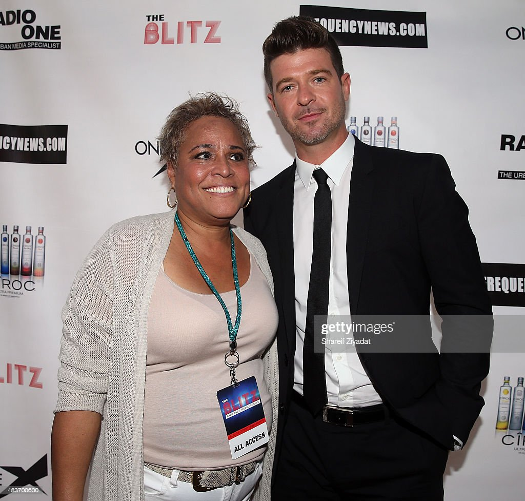 Jodi Williams and Robin Thicke at Stage 48 on August 11, 2015 in New York City.