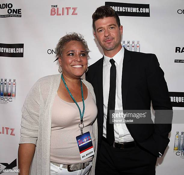 Jodi Williams and Robin Thicke at Stage 48 on August 11 2015 in New York City