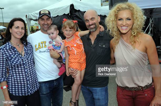 Jodi Wolfe Mike Wolfe from TV's American Pickers Stephen Schlapman and Kimberly Schlapman LBT at the 6th Annual TJ Martell Foundation Ride For The...