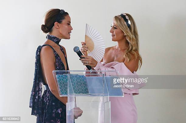 Jodie Anasta and Liz Cantour attend the Magic Millions Raceday on January 14 2017 in Gold Coast Australia