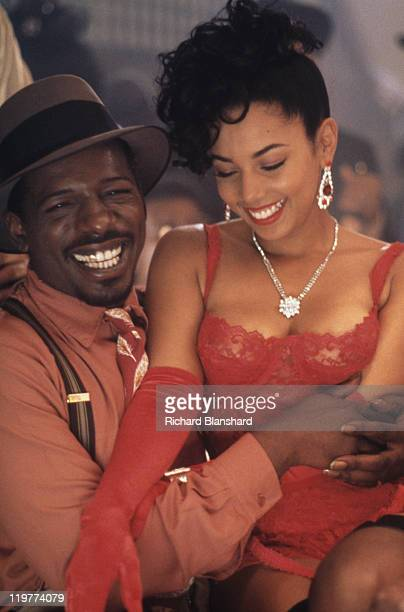 Jodie and Teena in a scene from 'A Rage in Harlem' directed by Bill Duke 1991