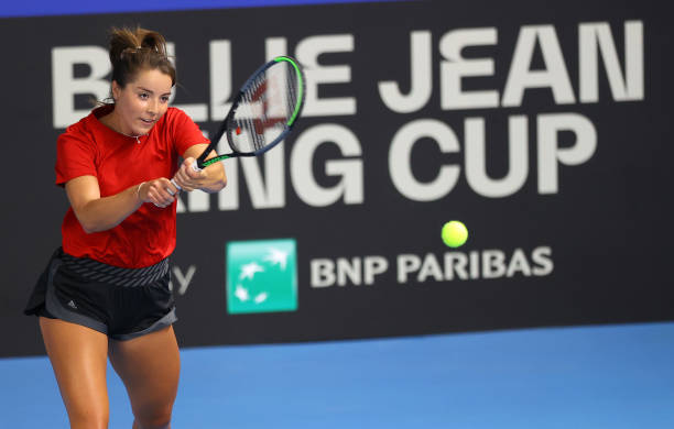 GBR: Billie Jean King Cup Play-Offs: Great Britain v Mexico - Day 1