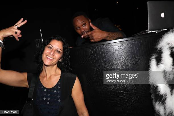 Jodie Bloom and DJ Aktive attend the Annual PreGrammy Reception hosted by Ted Reid at STK on February 9 2017 in Los Angeles California