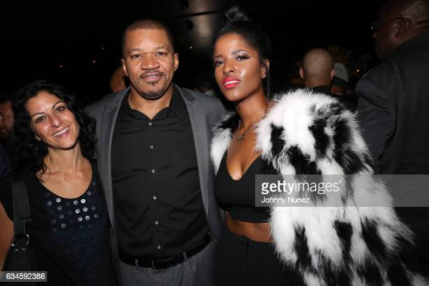 Jodie Bloom Matt Middleton and Audra The Rapper attend the Annual PreGrammy Reception hosted by Ted Reid at STK on February 9 2017 in Los Angeles...