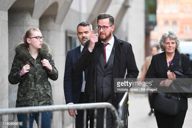 Jodie Chesney's father Peter Chesney and grandmother Christine Chesney outside the Old Bailey in London after Svenson OngaKwie and a 17yearold boy...