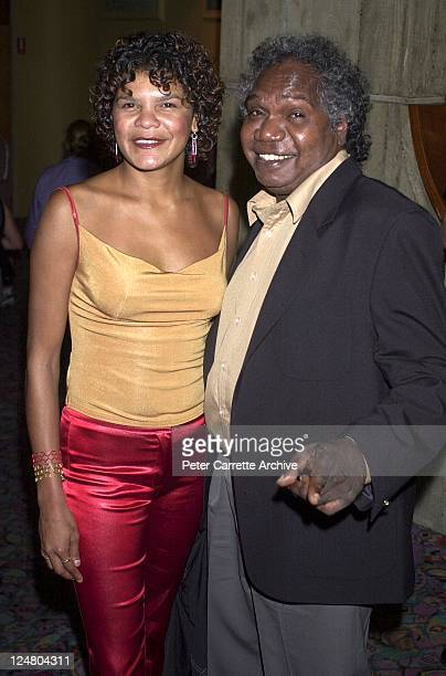 Jodie CockatooCreed and Mandawuy Yunupingu arrive for the premiere of the film 'Yolngu Boy' in Paddington on March 16 2001 in Sydney Australia