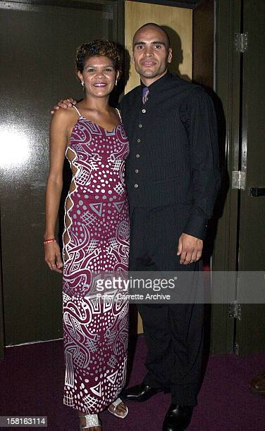Jodie CockatooCreed from the band Yothu Yindi with Anthony Mundine backstage at the 6th Annual Deadly Awards at City Live on October 22 2000 in...