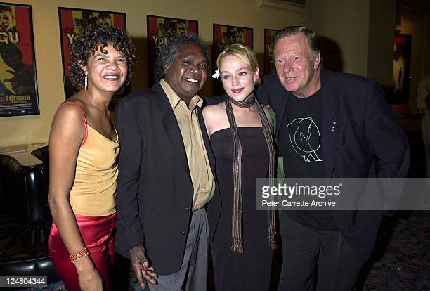 Jodie CockatooCreed Mandawuy Yunupingu Susie Porter and Jack Thompson arrive for the premiere of the film 'Yolngu Boy' in Paddington on March 16 2001...