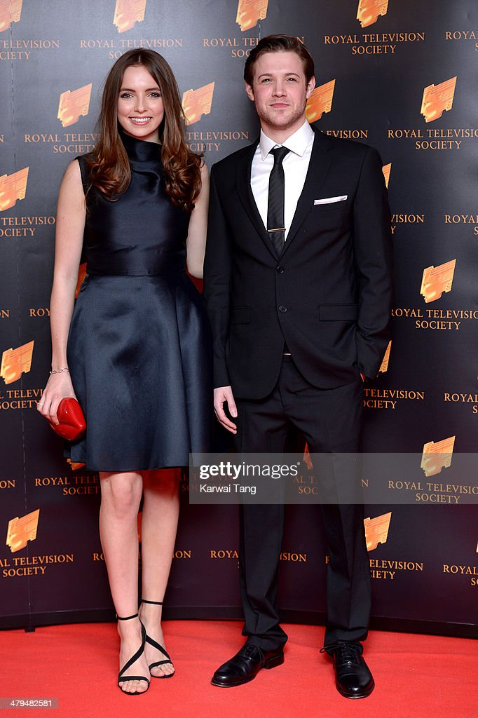 Jodie Comer and Dan Cohen attend the RTS programme awards at Grosvenor House, on March 18, 2014 in London, England.
