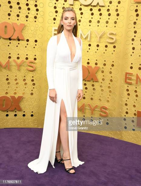 Jodie Comer arrives at the 71st Emmy Awards at Microsoft Theater on September 22 2019 in Los Angeles California